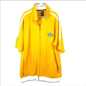 Phat Farm Men's Yellow and White Polo XXXL